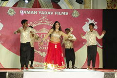 Mrs. Bhiwadi NCR Fashion Show Royalty Free Stock Photography
