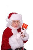 Mrs. Claus drunk Stock Photography