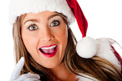 Mrs. Claus looking surprised Royalty Free Stock Images