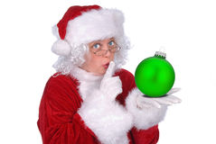 Mrs. Claus with ornament royalty free stock photography