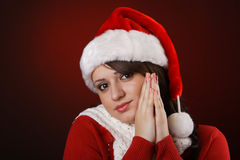 Mrs. Claus praying Stock Images
