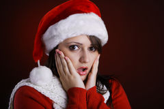 Mrs. Claus shocked Royalty Free Stock Photography