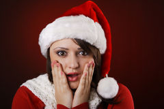 Mrs. Claus shocked Stock Image