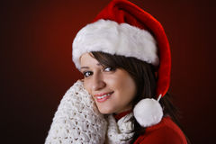 Mrs. Claus smiling Stock Image