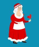 Mrs. Claus . Wife of Santa Claus. Christmas woman in red Royalty Free Stock Photos
