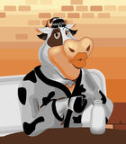 Mrs. cow character Royalty Free Stock Photos