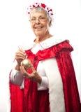 Mrs. klauzula z boże narodzenie ornamentem Obrazy Stock