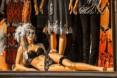 Mrs. mannequin. An mannequin taken at a store front window Royalty Free Stock Photos