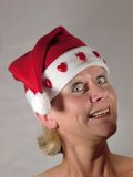 Mrs Sankt überrascht Stockfotos