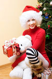 Mrs. Santa Stock Image