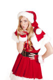 Mrs Santa blowing kiss Royalty Free Stock Image