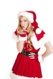 Mrs Santa Blowing Kiss Royalty Free Stock Image