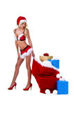 Mrs Santa Christmas Delivery Stock Image