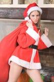 mrs santa claus сексуальный стоковая фотография rf
