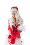 Mrs. Santa Claus. Isolated on white background royalty free stock photography