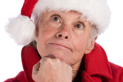 Mrs. santa claus Stock Images
