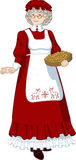 Mrs Santa Claus Mother Christmas character Royalty Free Stock Image