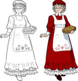 Mrs Santa Claus Mother Christmas character Stock Images