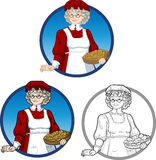 Mrs Santa Claus Mother Christmas character Royalty Free Stock Images