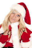 Mrs Santa close happy Stock Photos