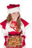 Mrs Santa cookies and smile Royalty Free Stock Image