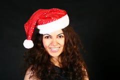Mrs. Santa dreaming Royalty Free Stock Photo
