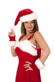 Mrs santa hold hat Stock Photography