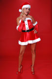 Mrs. Santa Pointing Stock Photography