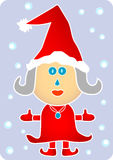 Mrs Santa in Red Royalty Free Stock Photos