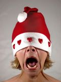 Mrs. Santa screaming Royalty Free Stock Image