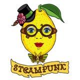 mrs Zitronenzeichnung im Stil des steampunk Stockfotos