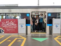 MRT雅加达 免版税库存图片