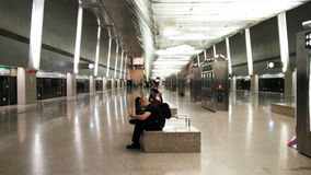 MRT στον αερολιμένα Σιγκαπούρη Changi στοκ εικόνες
