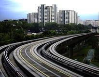 MRT της Σιγκαπούρης σιδηρόδρομος Στοκ Εικόνες