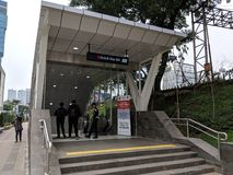 MRT Jakarta. Jakarta, Indonesia - April 7, 2019: Entrance gate of Dukuh Atas BNI MRT Jakarta Station in Sudirman district royalty free stock photos