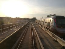 MRT Kiloliter morgens Lizenzfreie Stockfotos