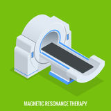 MRT machine for magnetic resonance imaging in radiology in a hospital. Computerized Tomography, xray with multiple slice. Detectors. The system produces Stock Photo