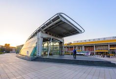 MRT Songshan Airport station at night Royalty Free Stock Images