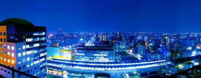 Mrt station night scene. In osaka Japan Stock Photos