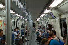 MRT subway train Stock Photography