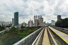 MRT Sungai Buloh- Kajang线-大量高速运输在马来西亚 库存照片