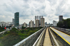 MRT Sungai Buloh- Kajang γραμμή - μαζική γρήγορη διέλευση στη Μαλαισία στοκ φωτογραφίες