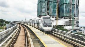 MRT - Transito rapido di massa in Malesia immagini stock libere da diritti