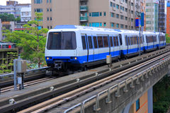 MRT VAN TAIPEH TREIN Stock Fotografie