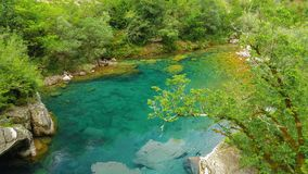 Mrtvica tranquil river Canyon Montenegro Wild Beauty. Nature lan. Dscape background stock image