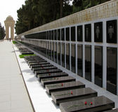Märtyrer-Gasse in Baku Stockbild