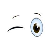 Mruganie kreskówki oczy ilustracja wektor