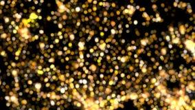 Mrugliwa Złota Bokeh świateł tła pętla zbiory wideo