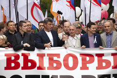 März des Millionenprotestes durch Moskau-Mitte Lizenzfreie Stockfotografie