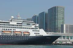 MS Amsterdam. The MS Amsterdam docked at the Ocean Terminal in Hong Kong, China Stock Photo